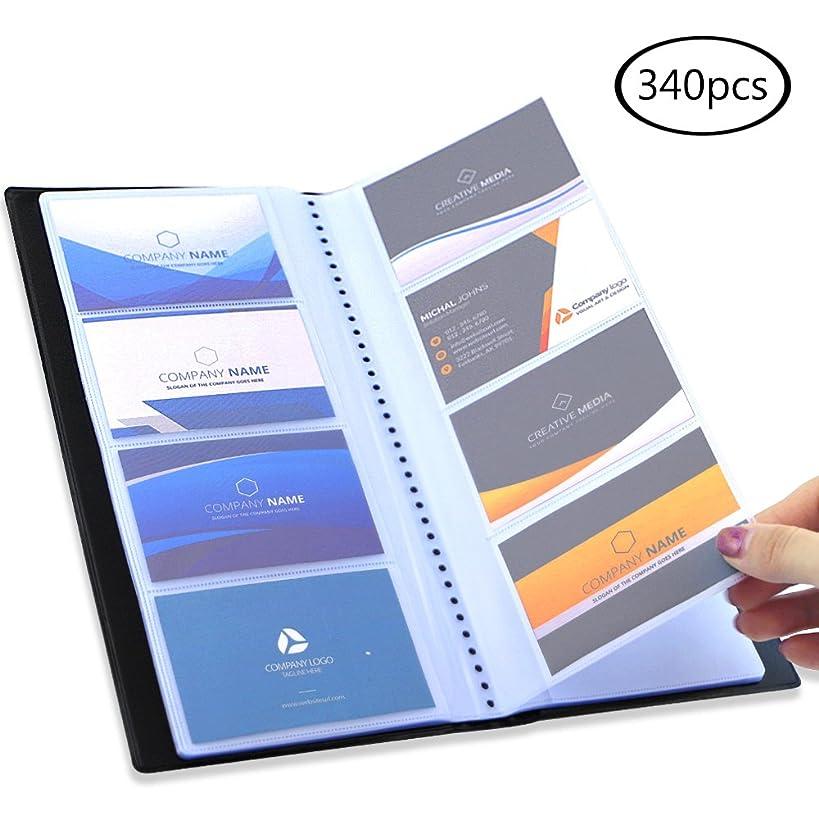 JPSOR Business Card Holder, 340 Pocket Black Journal Name Card Holder Book Case Organizer, for Office Use