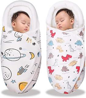 ベビー おくるみ ベビー寝袋 綿100% 新生児用 抱っこ布団 赤ちゃんの寝袋 赤ちゃんの夜泣き対策に 布団 柔らかく 通気性抜群 敏感肌適合 記念撮影 出産準備 出産祝い (恐竜+宇宙, 0-3ヶ月)