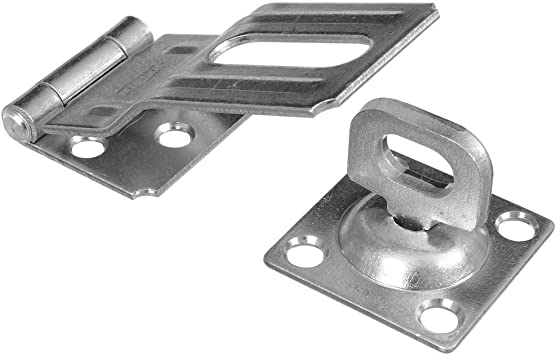 Steel Construction 3-1//2 Inch Prime-Line MP5057-1 Safety Hasp Pack of 1 Zinc-Plated Finish