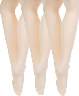 Just Lsy Pro Ballet Dance Tights for Girls and Women Ultra Soft Convertible Transition Toddler/Little Kid/Big Kid