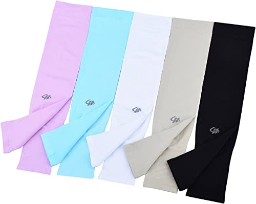 HOPESHINE Arm Cooling Sleeves UV Sun Protection Arm Sleeves for Cycling, Driving, Outdoor Sports, Golf, Sleeves for M...