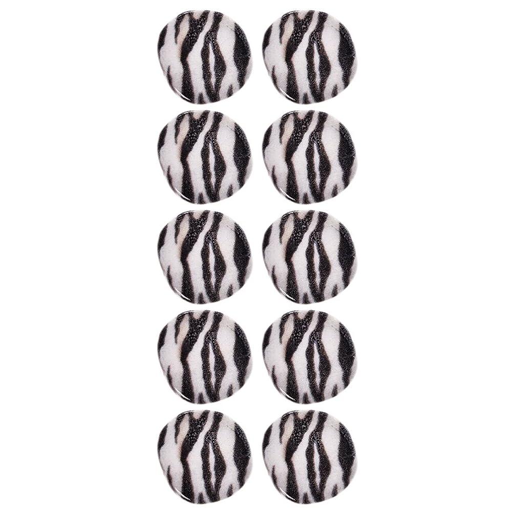 Mibo Nylon Bead 3mm Hole Size Subliminal Print Zebra Pattern 25mm 10 Pack