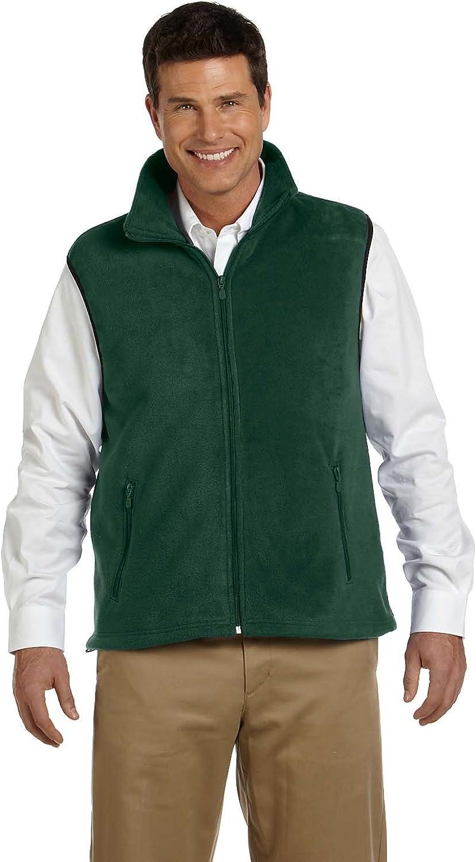 Harriton Adult 8 oz Fleece Vest - Hunter - M - (Style # M985 - Original Label)