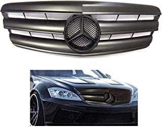 Mercedes benz W221 S-Class 2007 2008 2009 matte Black flat grille black Star Emblem S550 S63 S350 Front Bumper Hood #341