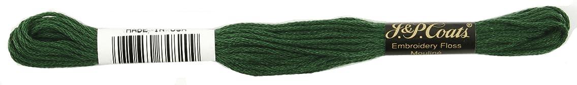Coats Crochet 6-Strand Embroidery Floss, Very Dark Pistachio Green, 24-Pack