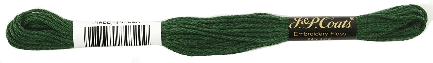 Coats Crochet 6-Strand Embroidery Floss, Very Dark Pistachio Green, 24-Pack