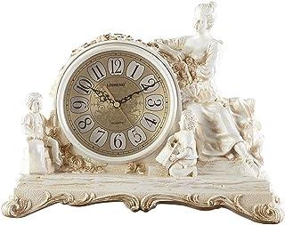 Retro-Uhr Braun Radio Antik Deko Retro Metall Analog Quartz Tischuhr Kamin Uhr