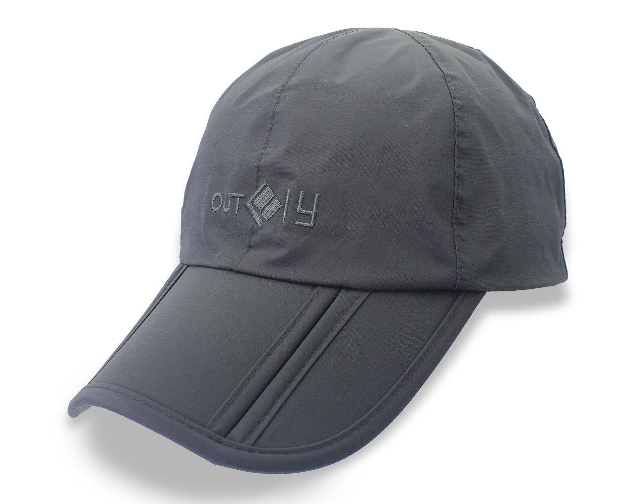 Ace Select UV 50+ 速干遮阳帽防水长帽檐可折叠跑步户外运动帽可折叠便携式棒球帽男女均适合