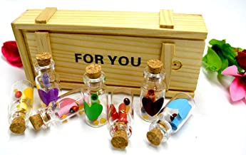Shaping Hub Message Bottle Gift for Love Valentine Couple Friends Gift
