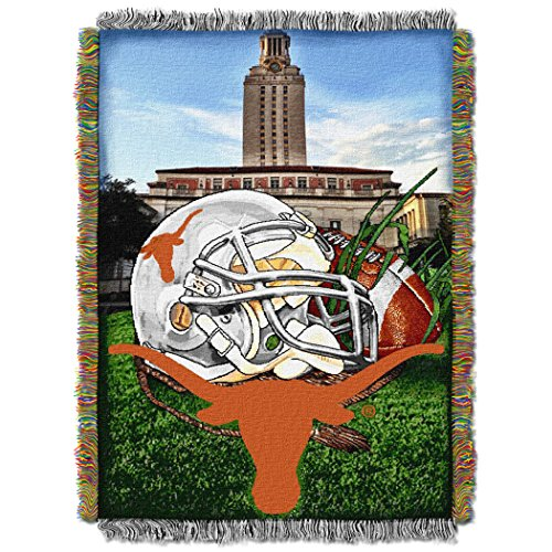 Texas Longhorns NCAA Woven Tapestry Throw (Home Field Advantage) (48x60 )