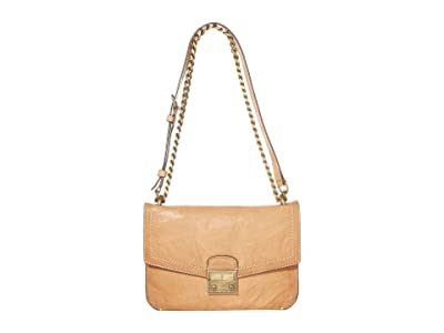 Frye Ella Crossbody (Beige) Cross Body Handbags