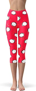 Rainbow Rules Minnie Hand-Drawn Polka Dots Red Disney Inspired Winter Leggings - Fleece, Capri 3/4 Length, Mid/High Waist