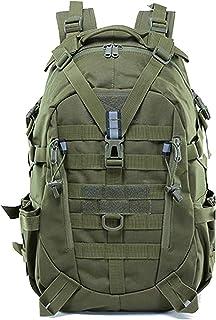 TANSOLE - Mochila táctica militar, 35 L, para camping, para viajes, pesca, escalada (verde militar)