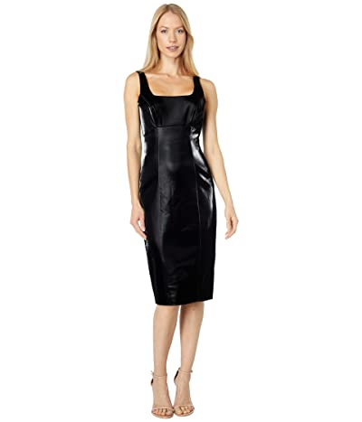 BCBGMAXAZRIA Liquid Faux Leather Cocktail Dress