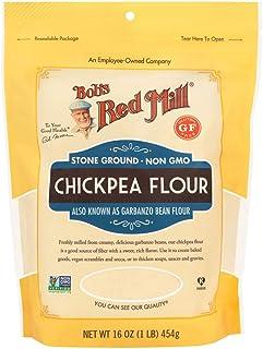 Bob´s Red Mill Bob's Red Mill, Harina de garbanzo sin gluten, 454g, Un sabor artesanal y saludable, 454 gramos