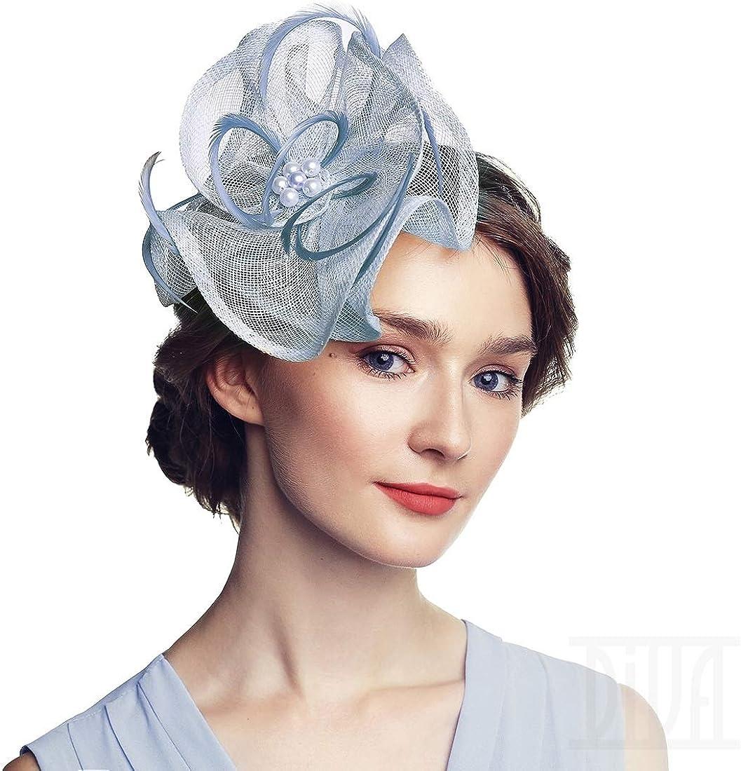 Flower Fascinator Headband Tea Party Wedding Cocktail Derby Hats for Women