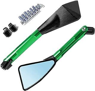 M10 x 1.25,Moto Specchio Chiusura Spine Per Kawasaki Z650 2017 2018 2019 2 x Alu Specchietto Viti di Chiusura Bolts