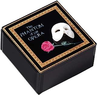 The San Francisco Music Box Company Phantom of The Opera Mask and Rose Glass Music Box