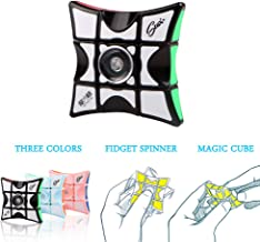 FIDGET PRO Fidget Spinner Cube Stainless Steel Bearing High Speed Spinning Toy, 1x3x3 Infinity Puzzle Floppy Cube for Helping ADHD Focus Anxiety & Stress Reducer (Black)