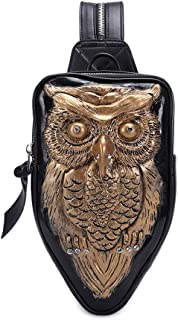 GYNSSJBB Men and Women Travel Backpacks, Three-Dimensional Animal Design, Fashion Leather Messenger Bag Purse, Mini Multifunctional Waterproof Lightweight, Suitable for Running, Tourism, Gifts