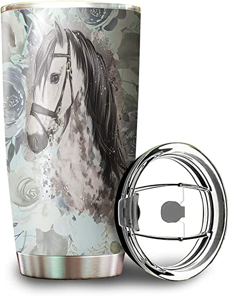 Water Color Horse Tumbler