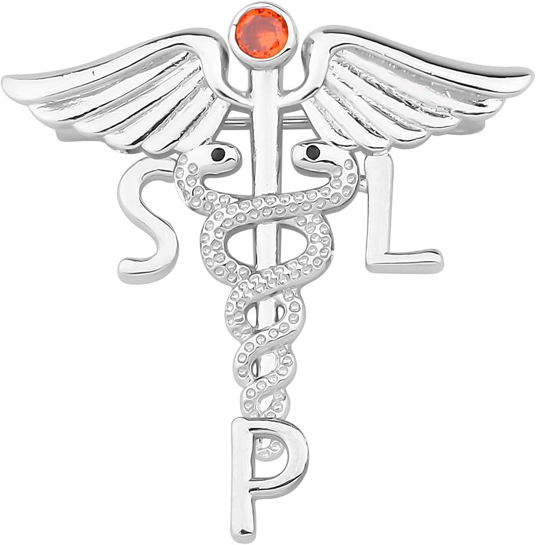 Zuo Bao Speech Therapist Jewelry SLP Label Max 70% OFF S Brooch Licensed Pin Latest item