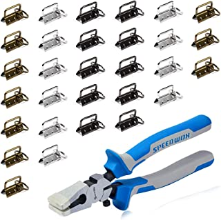 SPEEDWOX 30 Sets of 1.25 Inch Key Fob Hardware with Split Rings and Key Fob Pliers Multicolor Gun Black/Antique Brass/Whit...