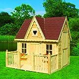 Promadino Set Spielhaus Schwalbennest mit Veranda