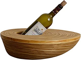 Logo TLF-FF Vino del Estante del sostenedor del Vino de bambú Estante del Vino Seguro y Estable Vino Titular Interior de l...