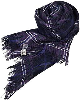 [ロキャロン] Lochcarron of scotland英国スコットランド製 ストール 薄手 ピュアニューウール 大判 タータンチェック