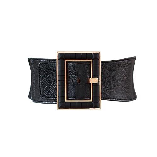 0c5a831c3 High Waist Wide Stretch Belt Vintage Buckle Decorative Elastic Cinch Plus  Size Band Belt for Women
