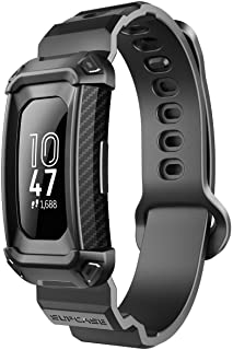 SUPCASE Unicorn Beetle Pro Series Design for Fitbit Inspire & Fitbit Inspire Hr Replacement Bands with Built-in Rugged Protective Case (Black)