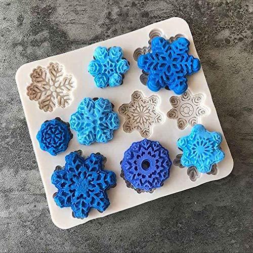 Forms DIY Silicone Baking Cake Molds Christmas Xmas Snowflake Shape Cake Mold, Christmas Holiday Party Decoration, Decor Christmas Tree Ornaments