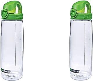 Nalgene Tritan On The Fly Water Bottle, Clear/Green Set of 2, 24Oz