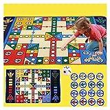 internationales schach Ludo flugzeug schach crawl puzzle matte fliegende set wasserdicht spiel ludo spiel baby kinder pädagogisch magnetisches (Größe : 180CM*120CM)