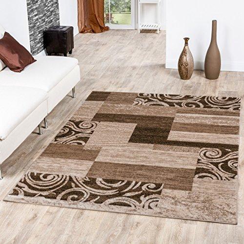 Teppich Günstig Patchwork Design Modern Wohnzimmerteppich Beige Creme, Größe:190x280 cm