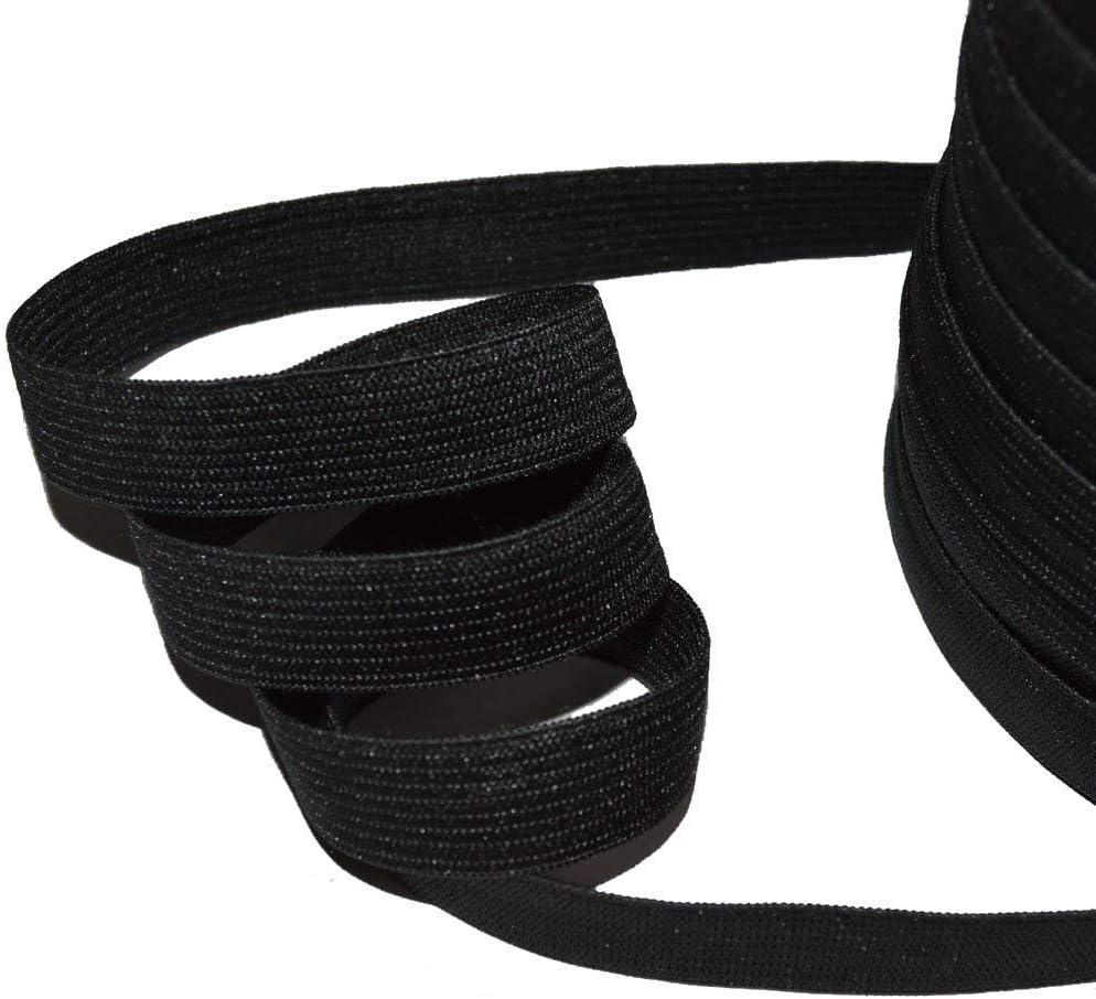 color negro Designers-Factory por 5 metros Cinta el/ástica el/ástica de 15 mm de ancho