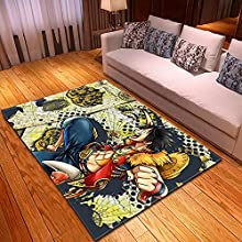 NHhuai Alfombra, Suave Salón Shaggy Estilo De, Mapa Creativo Sala de Estar Alfombra Dormitorio Comedor
