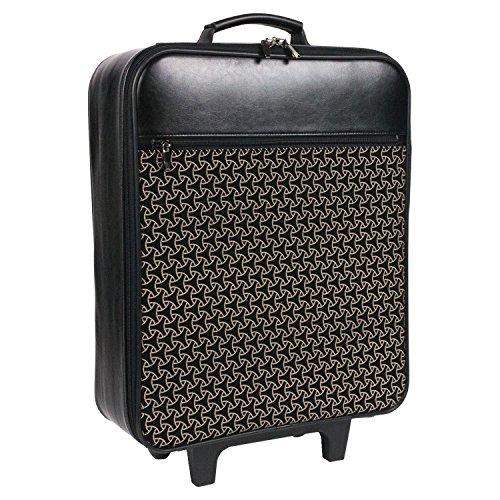 (キョウエツ) KYOETSU メンズ着物バッグ キャリー 印伝調 フェイクレザー ファスナーポケット付き 55 (幾何学, スリムタイプ)