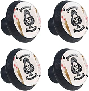 Clue Ace Playing Cards 4 Packs Kitchen Cabinet Knobs,Pulls Cupboard Handles Dresser Drawer Door Knobs Hardware with Screws