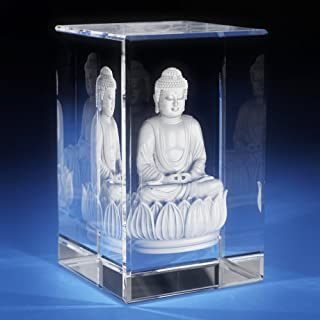 3D Laser Crystal Glass Etched Engrave Paperweight Gifts Buddha Portrait S Transperant Clear NEW