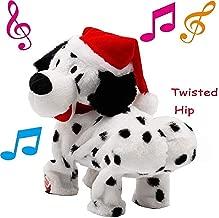 ZONLY Twerking Dog Santa Hat Twerks Dalmatian Dog Singing & Dancing Christmas Toy Gifts