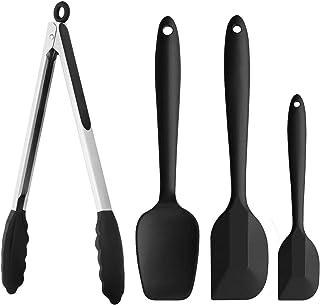 ACCOCO 4 Pac Spatule Silicone, Souple et spatules en Silicone résistant à la Chaleur de Anti-adhé, Silicone cuillère à Fen...