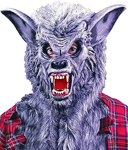 Masque HalFaibleeen Loup Deluxe gris