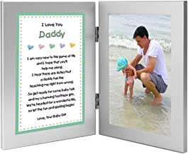 Gift for New Dad - Daddy Gift from Daughter with Sweet Poem - Add Photo