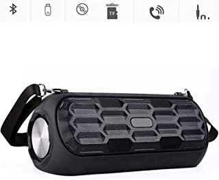 KJRJLY Bluetooth Audio, Portable HD Speaker, High-Power Subwoofer, 10 Hours of Playback Time, 20W High Power Waterproof, with Voice Prompts/Call Function