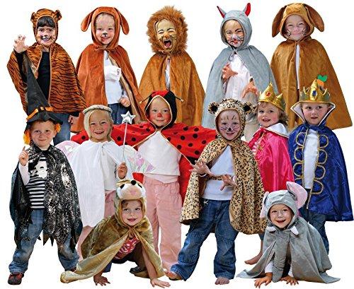 Betzold Kinderkostüme, 13 Stück– Kostüme in Universalgröße (3-8 J) für Theater u. Karneval, Tiere u. Märchen