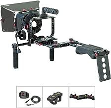 FILMCITY Shoulder Rig Kit for Blackmagic Cinema Camera/Production Camera 4k (FC-05) | BMCC Cage Rig Matte Box Follow Focus Accessories