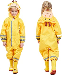 Outdoors Rain Suit Spring Color Kids One-Piece Waterproof Raincoat 3-10 Years Reflective Rain Coat Coverall