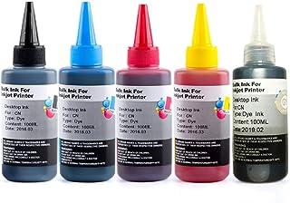 Canon キャノン 全機種対応 インク 100ML(BK/C/M/Y/GY)5色セット 詰め替えインク ユニバーサルインク ボトルインク 染料